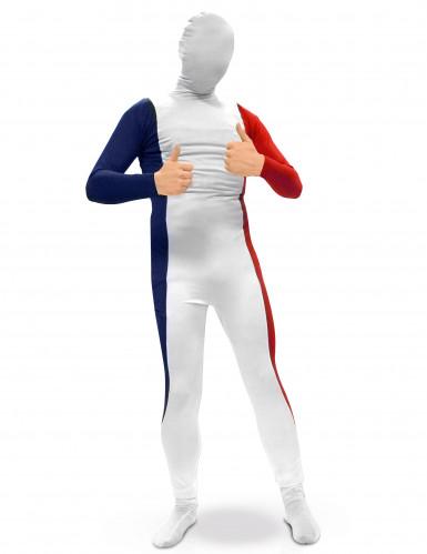Franse second skin kostuum voor volwassenen