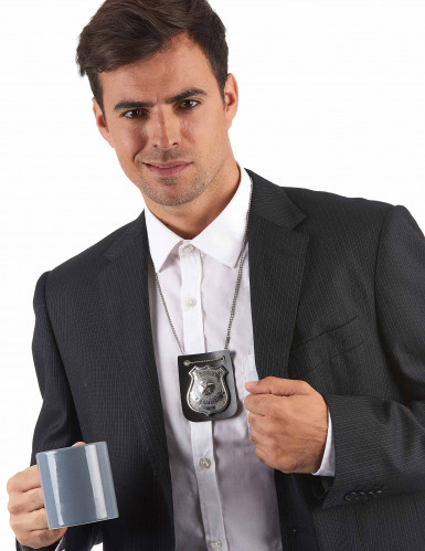 Ketting politie badge voor volwassenen-1