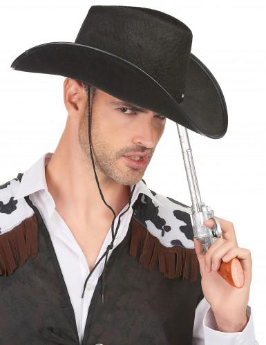 Zwart cowboy hoed voor heren-1