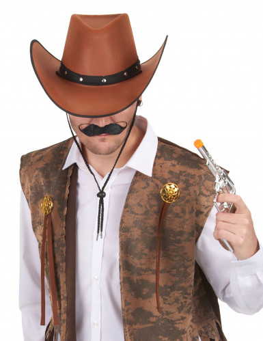 Bruin cowboy hoed voor volwassenen-1