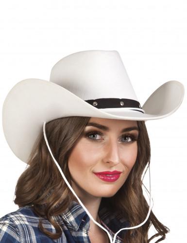 Wit cowboy hoed voor volwassenen