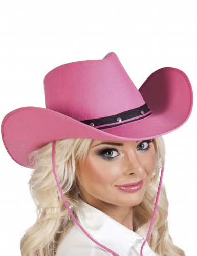 Roze cowboy hoed voor volwassenen