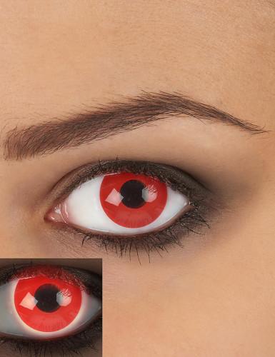 Rode UV contact lenzen