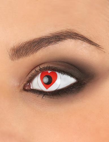 Rood hart contactlenzen voor volwassenen
