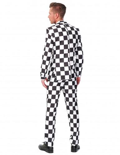 Zwart-wit Suitmeister™ kostuum voor heren -1