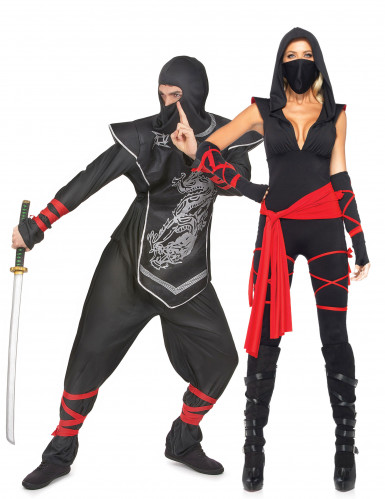 Ninja koppel kostuum voor volwassenen