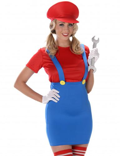 Rood loodgieter kostuum voor vrouwen-1