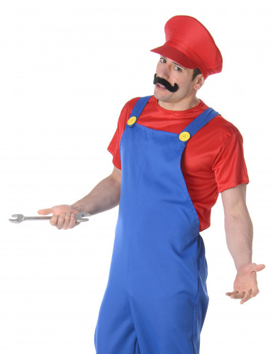Rood loodgieter kostuum voor volwassenen-1
