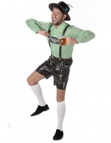 Groene Beierse kostuum voor heren