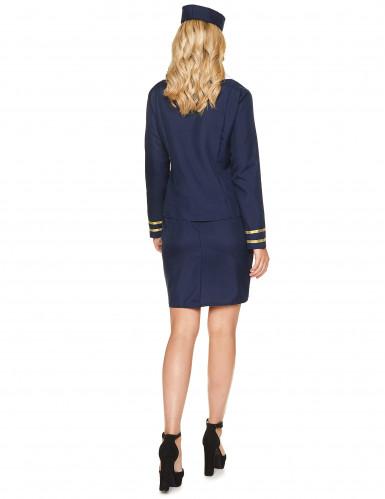 Blauwe stewardess kostuum voor vrouwen-2
