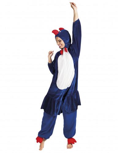 Blauwe haan kostuum voor volwassenen