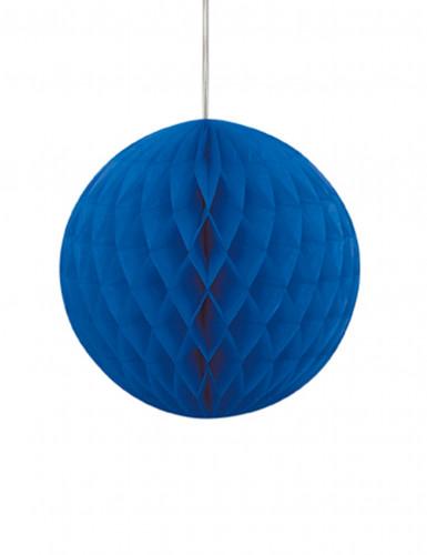 Blauwe papieren bol decoratie