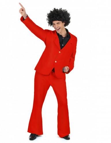 Rood disco kostuum voor heren