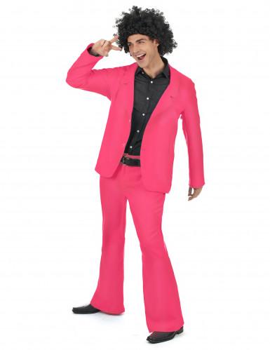 Roze disco kostuum voor volwassenen-1