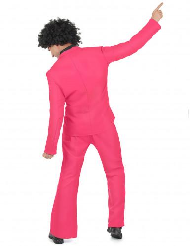 Roze disco kostuum voor volwassenen-2