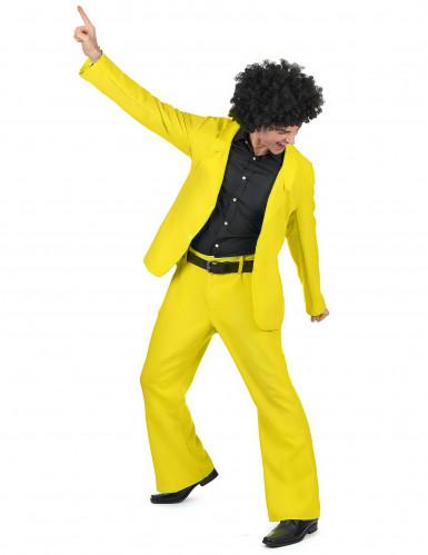 Geel disco kostuum voor heren-1