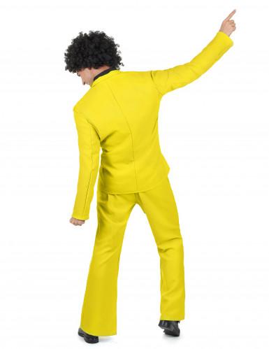 Geel disco kostuum voor heren-2