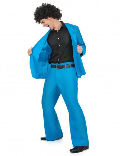 Blauw disco kostuum voor mannen-1