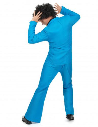 Blauw disco kostuum voor mannen-2
