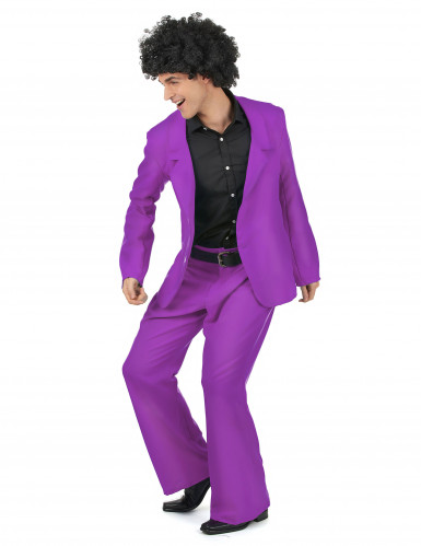 Paars disco kostuum voor heren-1