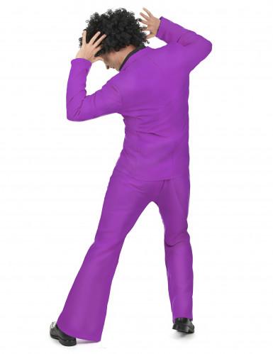 Paars disco kostuum voor heren-2