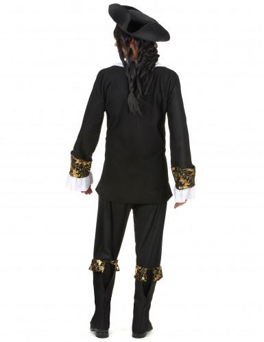 Zwart-goudkleurig piraat kostuum voor mannen-2