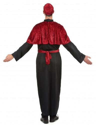 Rood en zwart bisschop kostuum voor mannen-2