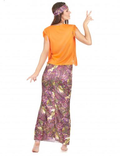 Groen-oranje hippie kostuum voor vrouwen-2