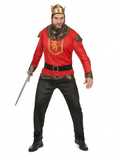 Rood ridder kostuum voor heren