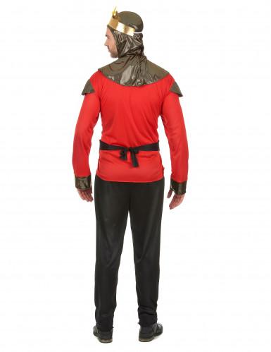 Rood ridder kostuum voor heren-2