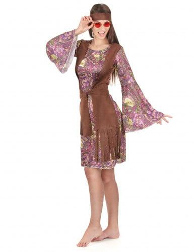 Retro hippie psychedelische outfit voor vrouwen-1