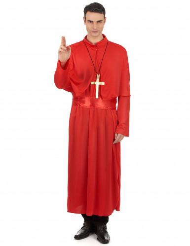 Rood priester kostuum voor volwassenen