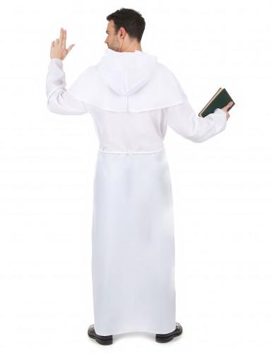 Wit monniken kostuum voor volwassenen-2