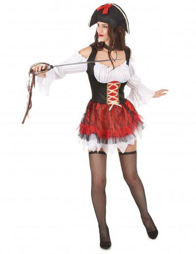 Sexy piraten outfit met tule rok voor dames-1