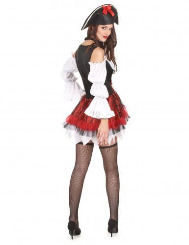 Sexy piraten outfit met tule rok voor dames-2