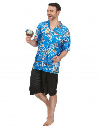 Hawaiiaanse toerist kostuum voor heren -1