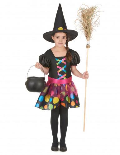 Kleurrijk heksenkostuum voor meisjes