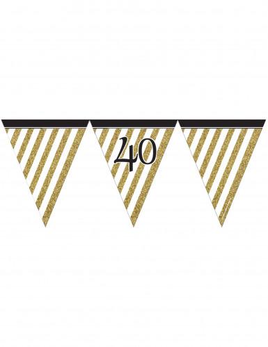 Goude met wit gestreepte 40 jaar vlaggenlijn