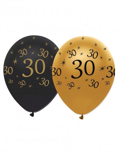 6 Verjaardagsballonnen 30 jaar