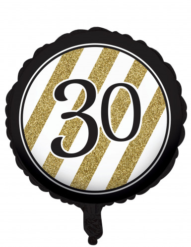 Zwarte en goudkleurige 30 jaar aluminium ballon