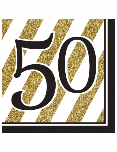 16 servetten 50 jaar