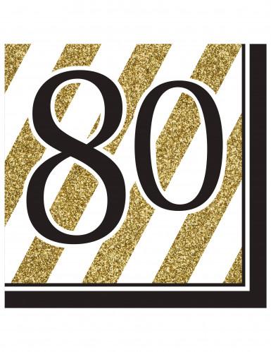 Verjaardag servetten 80 jaar