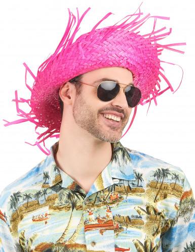 Roze Hawaii hoed voor volwassenen-1