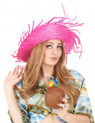 Roze Hawaii hoed voor volwassenen-2