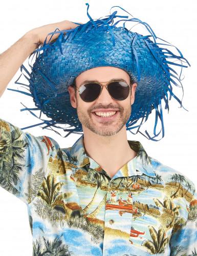 Blauwe Hawaii hoed voor volwassenen-1