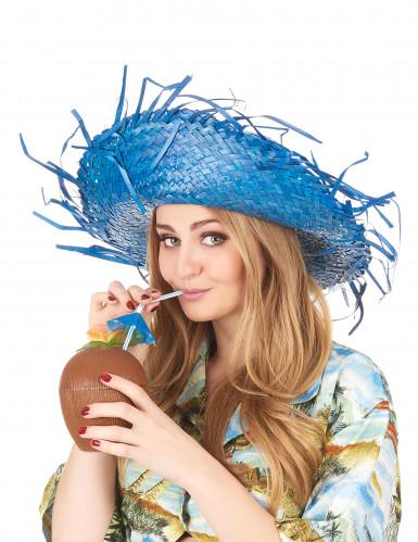 Blauwe Hawaii hoed voor volwassenen-2