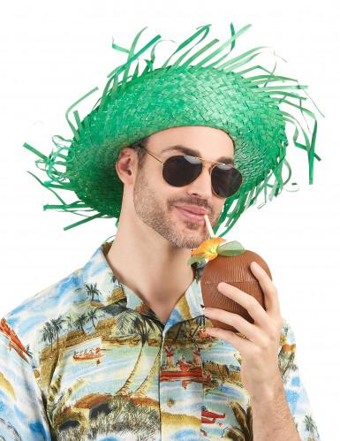 Groene Hawaii hoed voor volwassenen-1