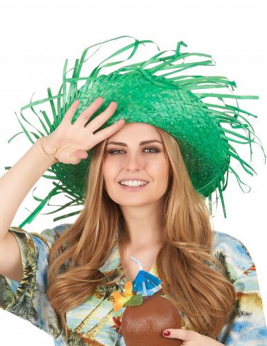 Groene Hawaii hoed voor volwassenen-2