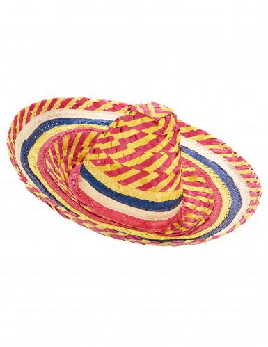 Rode en gele Mexicaanse sombrero voor volwassenen