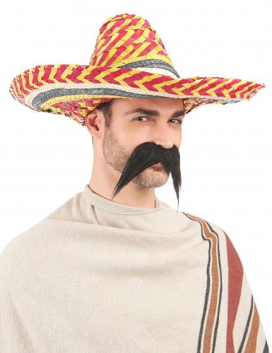 Rode en gele Mexicaanse sombrero voor volwassenen-2